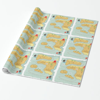 Treasure Map Wrapping Paper