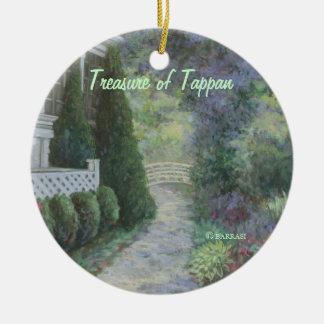 Treasure of Tappan:NewYork Series:Barrasi Round Ceramic Decoration