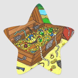 Treasure Star Stickers for birthday treat bags
