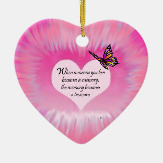 Treasured Memories Butterfly Poem Christmas Ornament