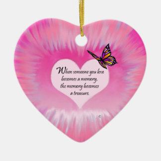 Treasured Memories Butterfly Poem Christmas Ornament