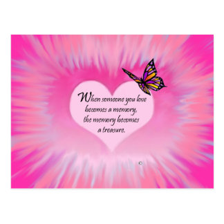 Treasured Memories Butterfly Poem Postcard