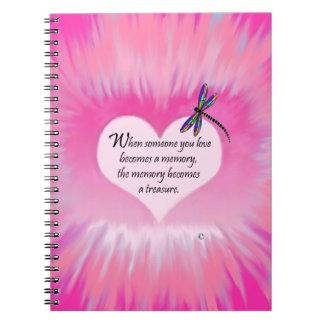 Treasured Memories Dragonfly Notebook