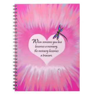 Treasured Memories Dragonfly Spiral Notebook