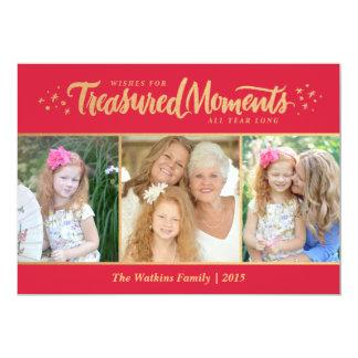 Treasured Moments Holiday Photo Card