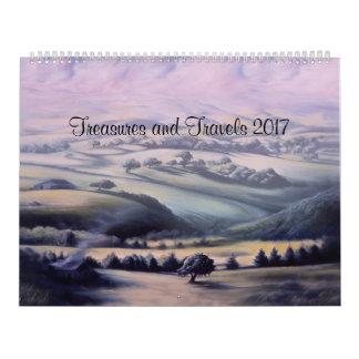 Treasures and Travels 2017 Wall Calendars