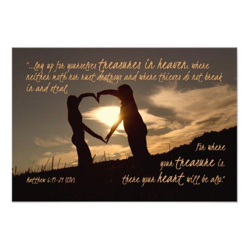 Treasures in Heaven Matthew 6:19-21 Bible Verse Photo