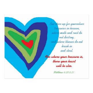 Treasures in Heaven Postcard