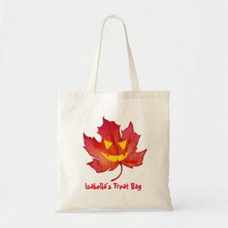 Treat Bag Customisable Fall Leaf Face