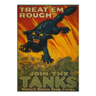 Treat 'em Rough - Join the Tanks Poster