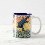 Treat 'Em Rough - Join the Tanks! Two-Tone Mug