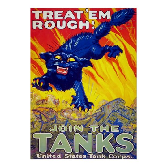 Treat 'Em Rough! ~ Vintage World War 1. Poster