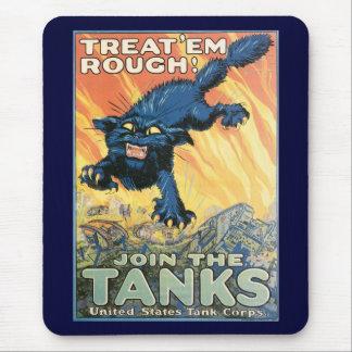 Treat Em Rough World War 2 Mousepads