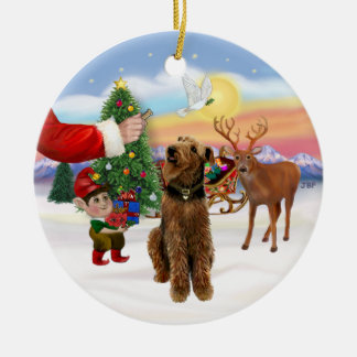 Treat for a Airedale Terrier Christmas Ornament