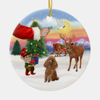 Treat for a Apricot Poodle (Toy) Christmas Ornament