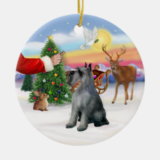 Treat for a Giant Schnauzer (S/P) Christmas Ornament
