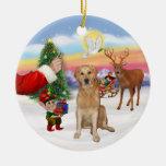 Treat for a Golden Retriever (K) Christmas Tree Ornament