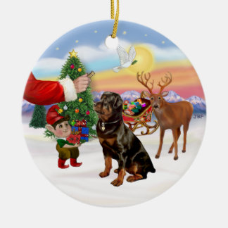 Treat for a Rottweiler Christmas Ornament
