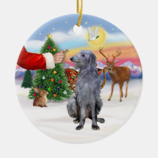 Treat for a Scottish Deerhound Christmas Ornament