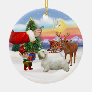 Treat for a Sealyham Terrier Christmas Ornament
