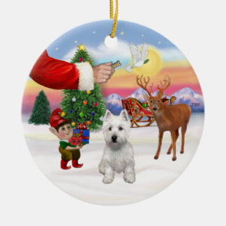 Treat for a West Highland Terrier Christmas Ornament