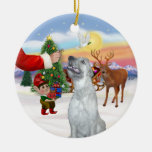 Treat for an Irish Wolfhound Christmas Tree Ornaments