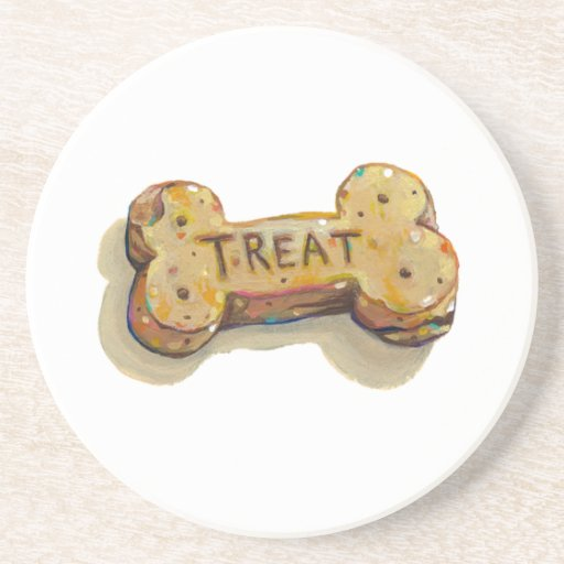 Treat for dog lovers fun art sitters trainers pets coaster
