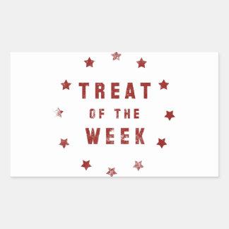 Treat of the Week Rectangular Sticker