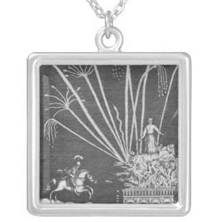 Treatise of Bonfires Silver Plated Necklace