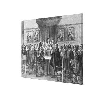 Treaty of Breda, 31st July 1667 Canvas Print
