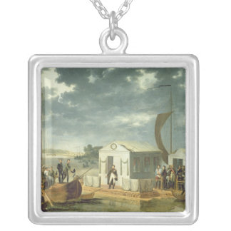 Treaty of Tilsitz, 1807 Silver Plated Necklace