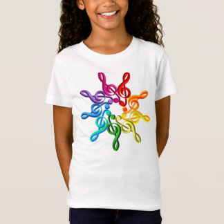 Trebel Clefs In A Pattern Girls T-Shirt
