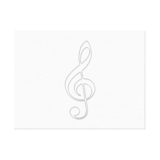 Treble clef canvas prints