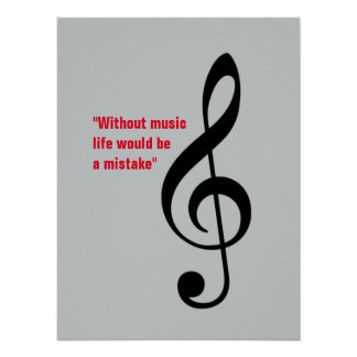 treble clef decor, music_note poster