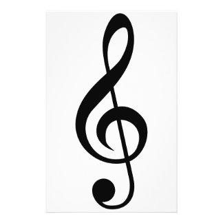 Treble Clef G-Clef Musical Symbol 14 Cm X 21.5 Cm Flyer
