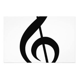 Treble Clef G-Clef Musical Symbol Personalized Flyer