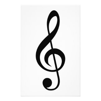 Treble Clef G-Clef Musical Symbol Custom Flyer