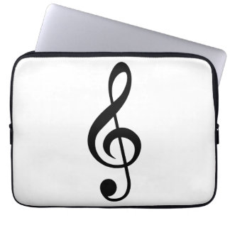Treble Clef G-Clef Musical Symbol Laptop Computer Sleeve