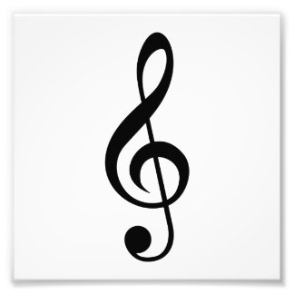 Treble Clef G-Clef Musical Symbol Photo Print