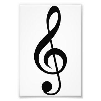 Treble Clef G-Clef Musical Symbol Photographic Print