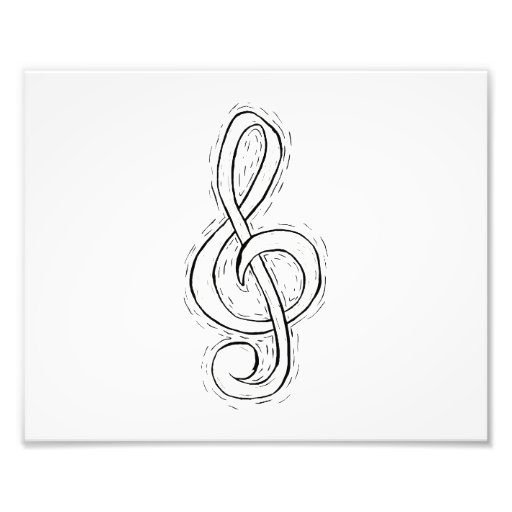 Treble Clef Graphic Design Just outlined Photo