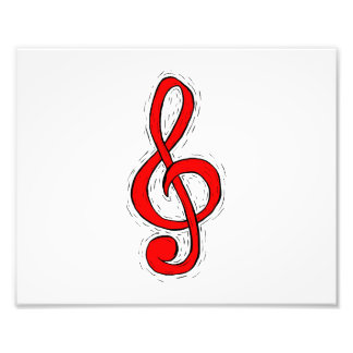 Treble Clef Graphic Design Red Photo