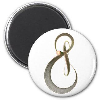 Treble Clef 6 Cm Round Magnet