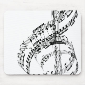 Treble Clef Mouse Pad