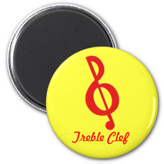 Treble Clef Music Band Magnet