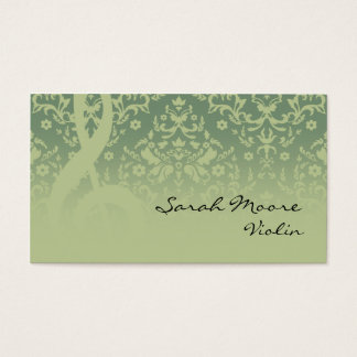 Treble Clef Music Business Card