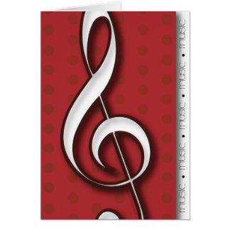 Treble Clef Music Note Card