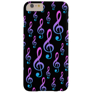 Treble Clef Musical Notation Symbol Pattern Barely There iPhone 6 Plus Case