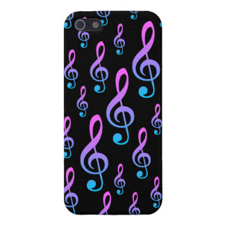 Treble Clef Musical Notation Symbol Pattern Cover For iPhone 5/5S