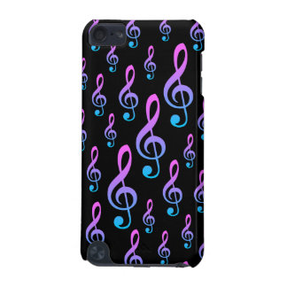 Treble Clef Musical Notation Symbol Pattern iPod Touch 5G Cases